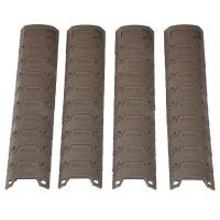 D-Boys 20mm RIS Sectional Armor Rail Cover 4pcs - Tan