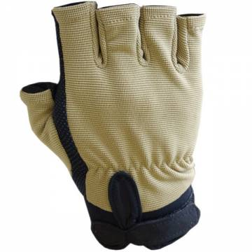 Half Finger Lightweight Tactical Gloves - Tan