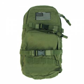 King Arms MPS SF Hydration Backpack w/ Flag - OD
