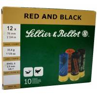 Sellier & Bellot Red & Black C12 36g - 10pcs
