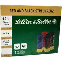 Sellier & Bellot Red & Black Streukreuz C12 34g - 10pcs