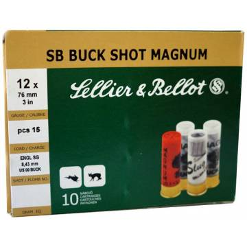 Sellier & Bellot Buck Shot Magnum C12 - 10pcs