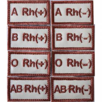 Embroidery Blood Type Patch - Tan