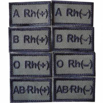 Embroidery Blood Type Patch - OD