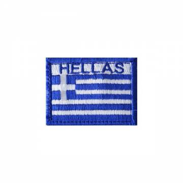 Embroidery Greek Flag (HELLAS) - Full Color