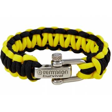 Pentagon Survival Bracelet 2.0 - Black / Yellow