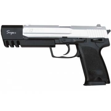 HFC H&K USP Match Spring Pistol - Black / Silver