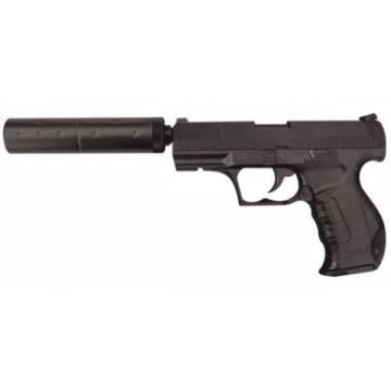 HFC Walther P99 Silencer Spring Pistol - Black