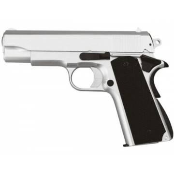 HFC Colt M1911 Officer Spring Pistol - Silver