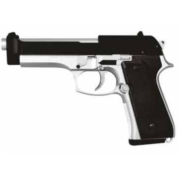 HFC Beretta M92F Spring Pistol - Black / Silver