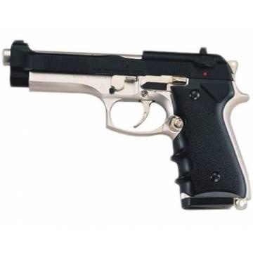 HFC Beretta M92F Elite Spring Pistol - Black / Silver