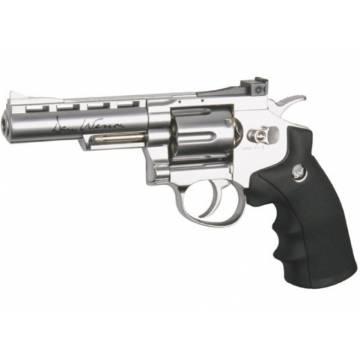 ASG Dan Wesson 4 Inch Revolver Silver - Full Metal
