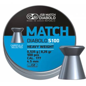 JSB Match Diabolo S100 4,5mm (0,535g) 500pcs