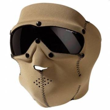 Mil-Tec Neoprene Mask w/ Intergrated Goggle - Smoke Coyote