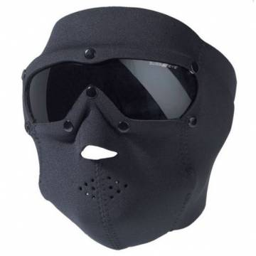 Mil-Tec Neoprene Mask w/ Intergrated Goggle - Smoke Black