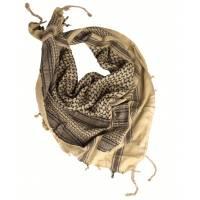 Mil-Tec Shemagh 110x110cm - Khaki / Black