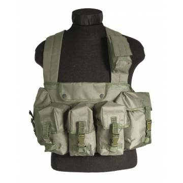 Mil-Tec Chest Rig 6 Pocket - Olive