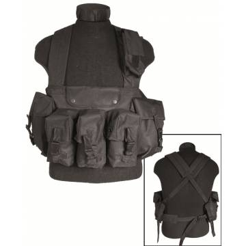 Mil-Tec Chest Rig 6 Pocket - Black
