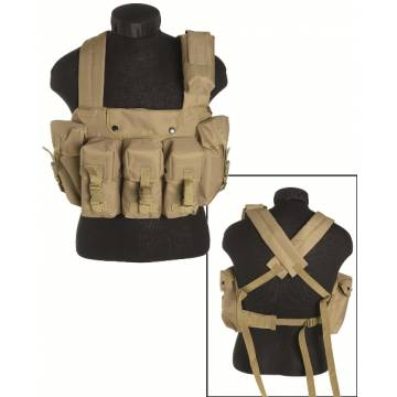Mil-Tec Chest Rig 6 Pocket - Coyote