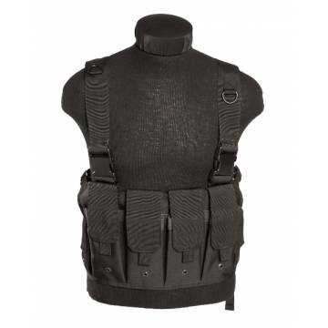 Mil-Tec Magazine Carrier Chest Rig - Black