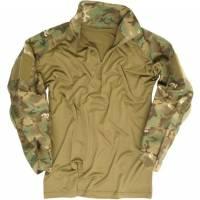Mil-Tec Tactical Warrior Shirt w/ Elbow Pads - ARID Woodland