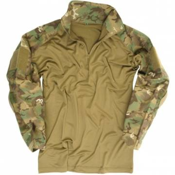 Mil-Tec Tactical Warrior Shirt w/ Elbow Pads - ARID Woodland