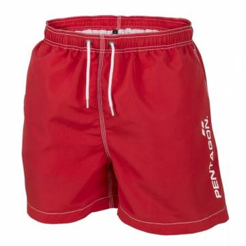 Pentagon Hippocampus Swimming Shorts - Red