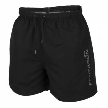 Pentagon Hippocampus Swimming Shorts - Black