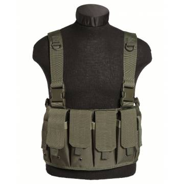 Mil-Tec Magazine Carrier Chest Rig - Olive