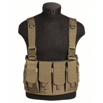 Mil-Tec Magazine Carrier Chest Rig - Coyote