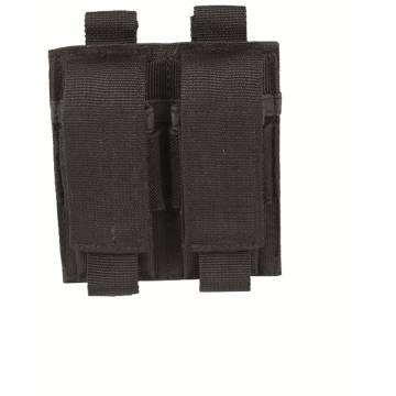 Mil-Tec Double Pistol Magazine Pouch - Black
