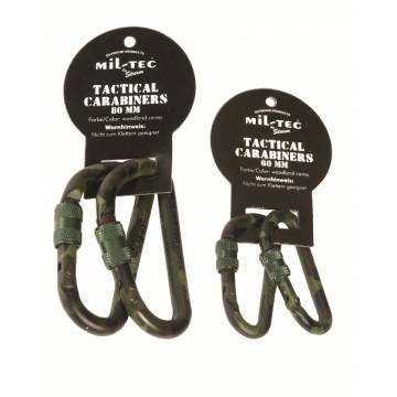 Mil-Tec Tactical Carabiner 80mm (2 Pcs) Woodland