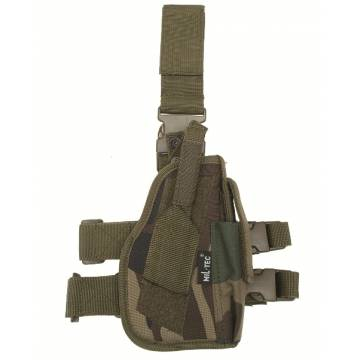 Mil-Tec Tactical Leg Pistol Holster - Woodland
