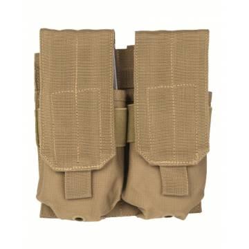 Mil-Tec Double M4/M16 Magazine Pouch - Coyote