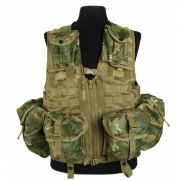 Mil-Tec Tactical Vest Modular System - ARID Woodland