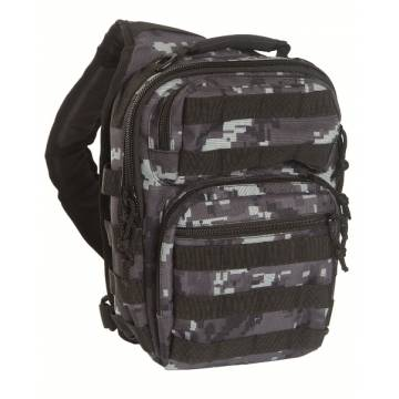 Mil-Tec One Strap Assault Pack - Black Digital