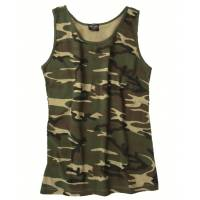 Mil-Tec Tank Top Cotton - Woodland