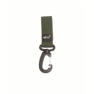 Mil-Tec Belt Keeper w/ Carabiner 50mm - Olive