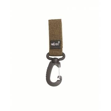 Mil-Tec Belt Keeper w/ Carabiner 50mm - Coyote