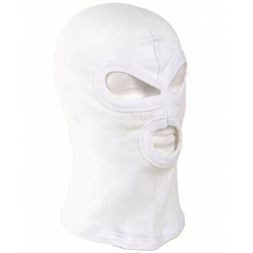 Mil-Tec Balaclava Three Hole - White
