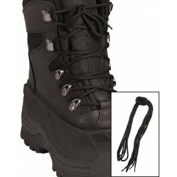 Mil-Tec Shoe Laces 140cm Cotton - Black
