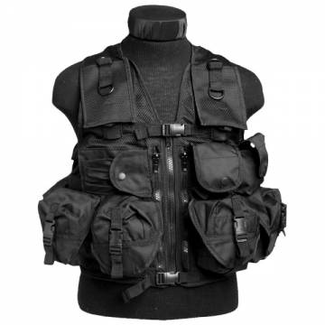 Mil-Tec Ultimate Assault Vest - Black