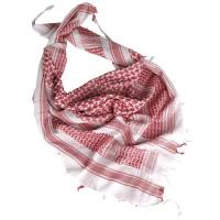 Mil-Tec Shemagh 110x110cm - White / Red