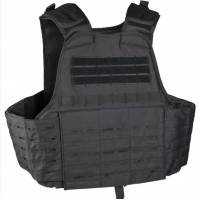 Mil-Tec Laser Cut Plate Carrier Vest - Black