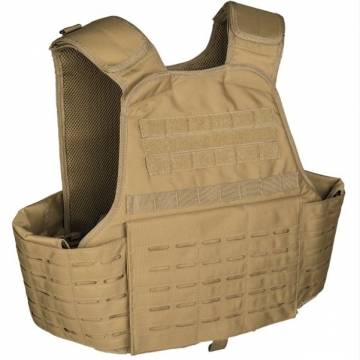 Mil-Tec Laser Cut Plate Carrier Vest - Coyote