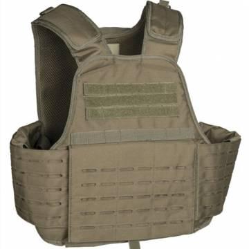 Mil-Tec Laser Cut Plate Carrier Vest - Olive