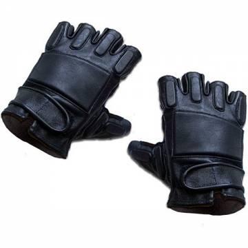 King Arms SWAT Leather Gloves-Half Finger
