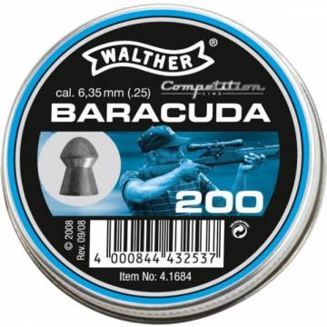 Walther Baracuda 6,35mm Pellets - 200pcs