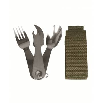 Mil-Tec Eating Utensil Stainless Steel w/ Pouch