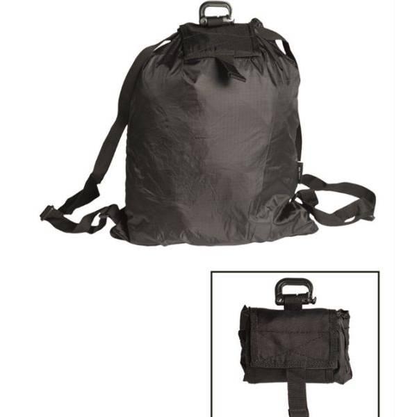 mil tec roll up rucksack black. Black Bedroom Furniture Sets. Home Design Ideas